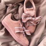 puma suede mode heart reset bowknot rose